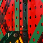 Meccano Bridge, Bolton - close up